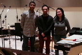 Photo of musicians in the studio