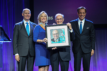 "Newton N. Minow received the PBS ""Be More"" Award."